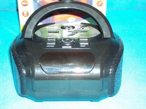 som e radio recarregável & caixinha digital