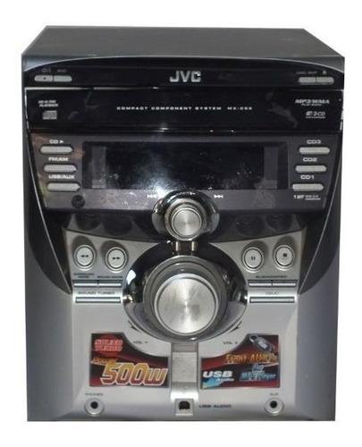som micro system jvc modelo mx-c55 prata 110v 80w usado não acompanha acessórios a11761