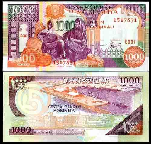 somalia  1000 shillings 1996