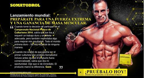 somatodrol testosterona hgh 100% original de polonia!!