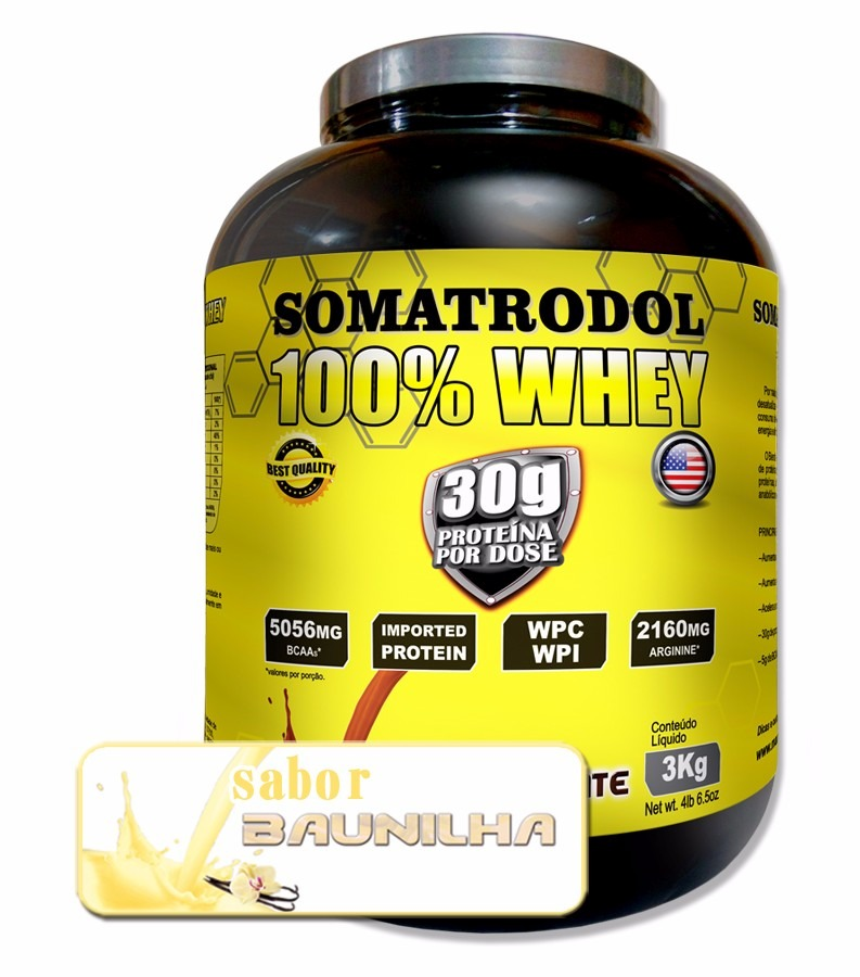 Somatrodol 100% Whey Protein Pote De 3kg Black Friday - R  134 786f25429dd58