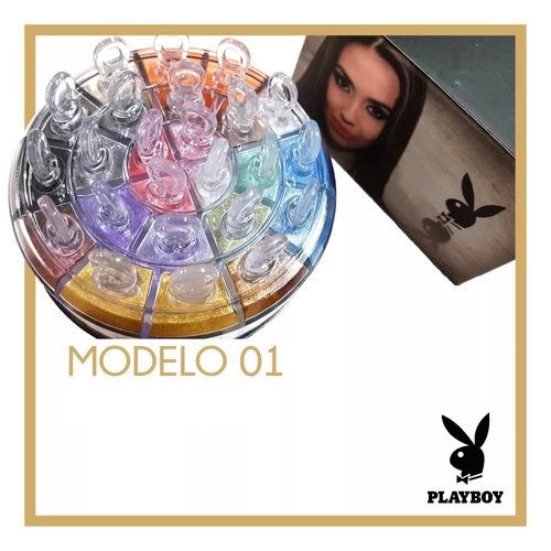 sombra glitter asa de borboleta playboy kit com 24 cores