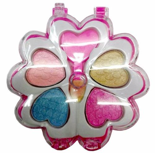 sombra maquillaje infantil 4 tonos cosmetica en estuche