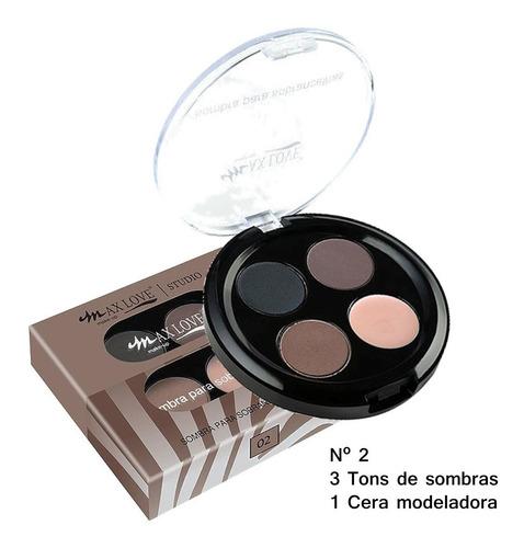 sombra para sobrancelhas kit 10 unid max love