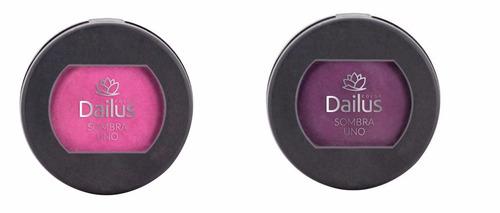 sombra uno dailus pink bordo e ferrugem kit maquiagem