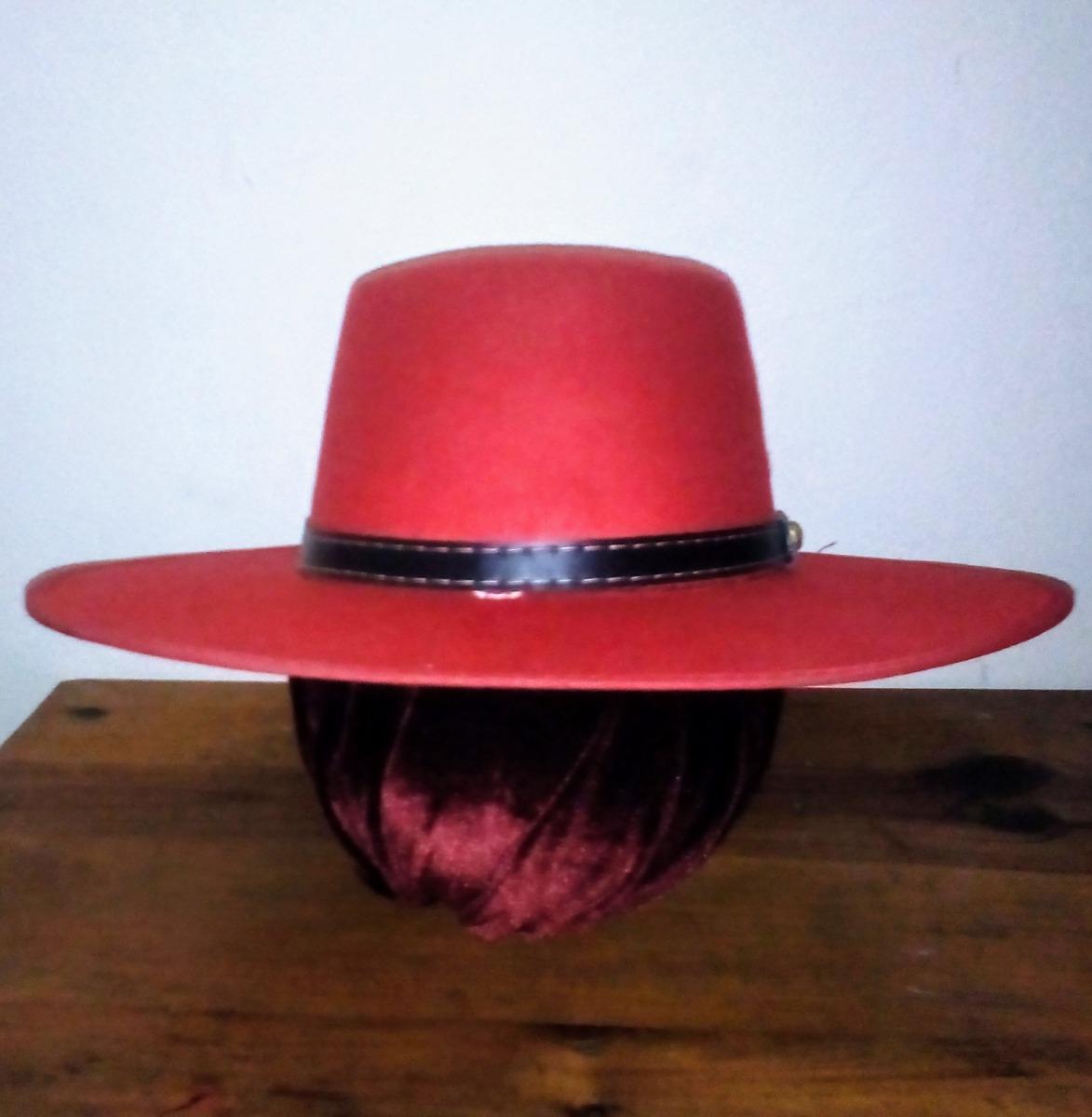 Sombrero Ala Ancha Tipo Español (zorro) -   365.00 en Mercado Libre fd49c4534a5