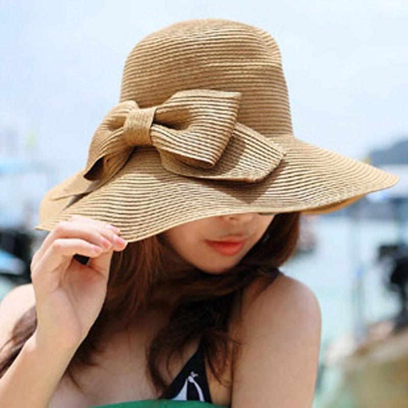 bdfe613008cbf sombrero ala larga de paja para mujer de playa o casual. Cargando zoom.