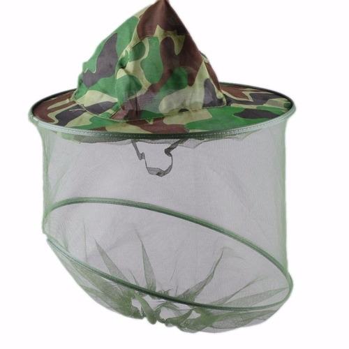 sombrero anti-mosquitos red camping,pesca,caza, caminata,