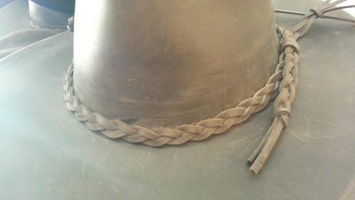 sombrero australiano cuero engrasado