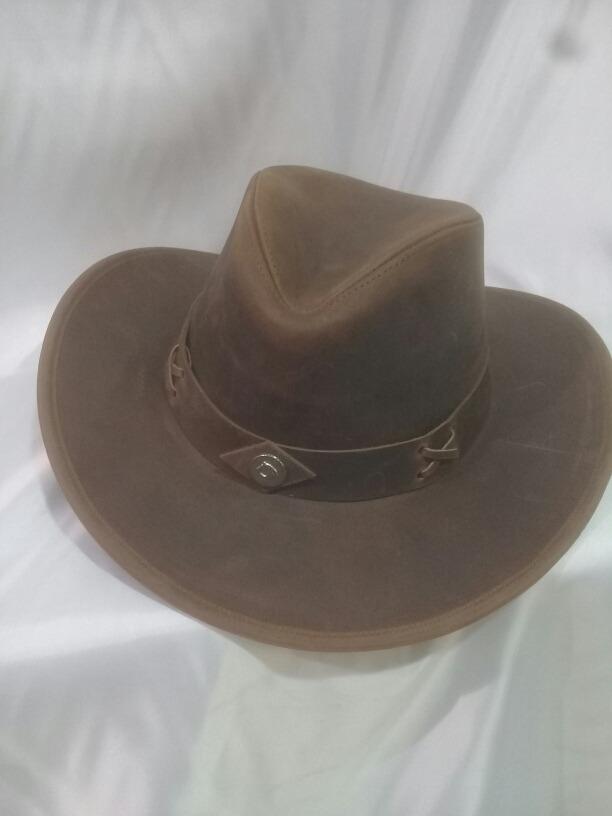 sombrero australiano cuero engrasado. Cargando zoom. c27b15f68d8