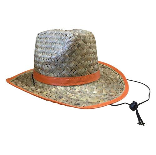 sombrero australiano de paja.