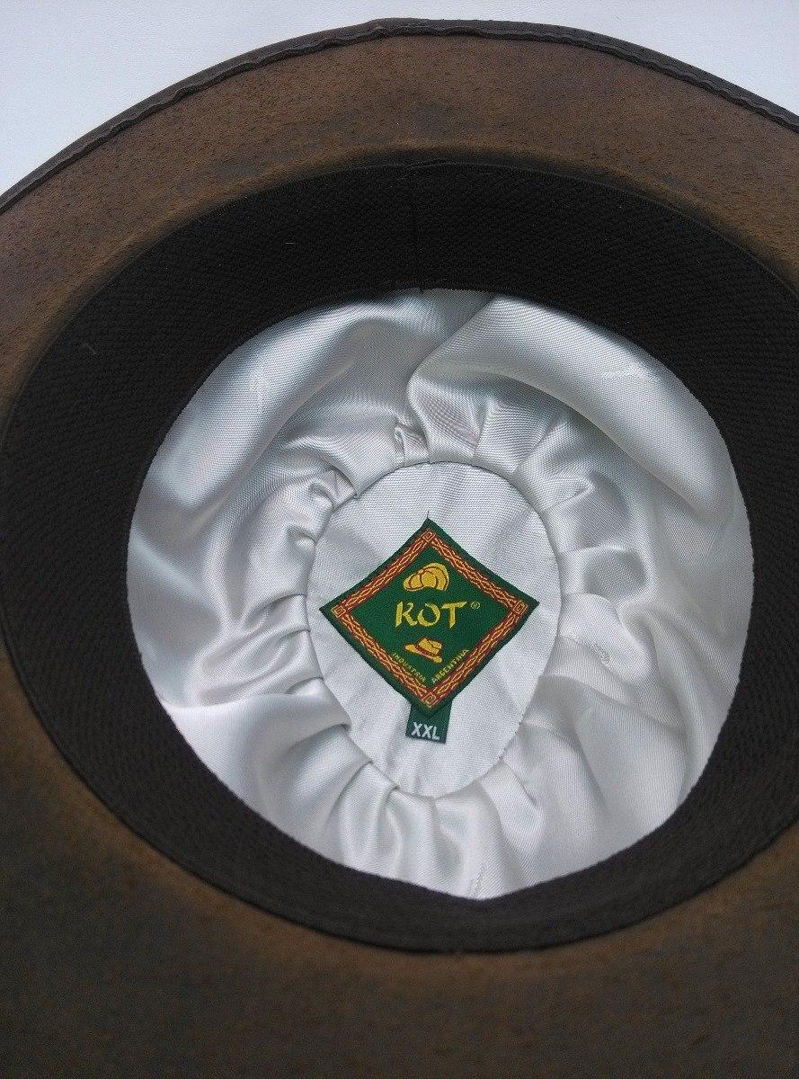 Sombrero Australiano Kot De Cuero Engrasado Combinado  dfd117744c4