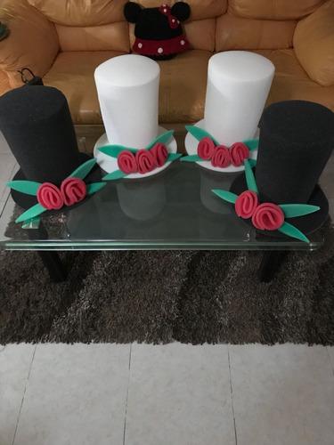 sombrero  boda para novio y novia