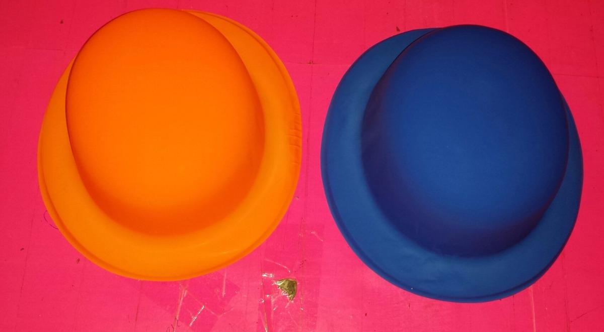 Sombrero Bombin Liso Colores Neon -   5.00 en Mercado Libre c877b799c90