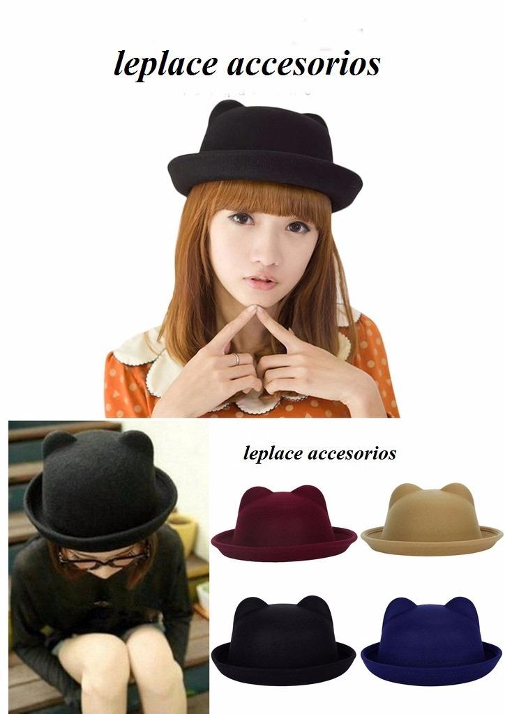 sombrero bombin orejas de gato cosplay otaku anime moda neko. Cargando zoom. 32fac7f32a3
