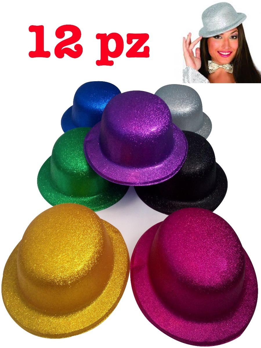 sombrero bombin pvc plastico diamantado 12 pz colores surt. Cargando zoom. b6f3ce3be7d