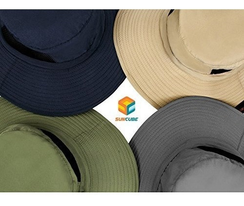 sombrero boonie de sun cube premium con ala ancha correa de