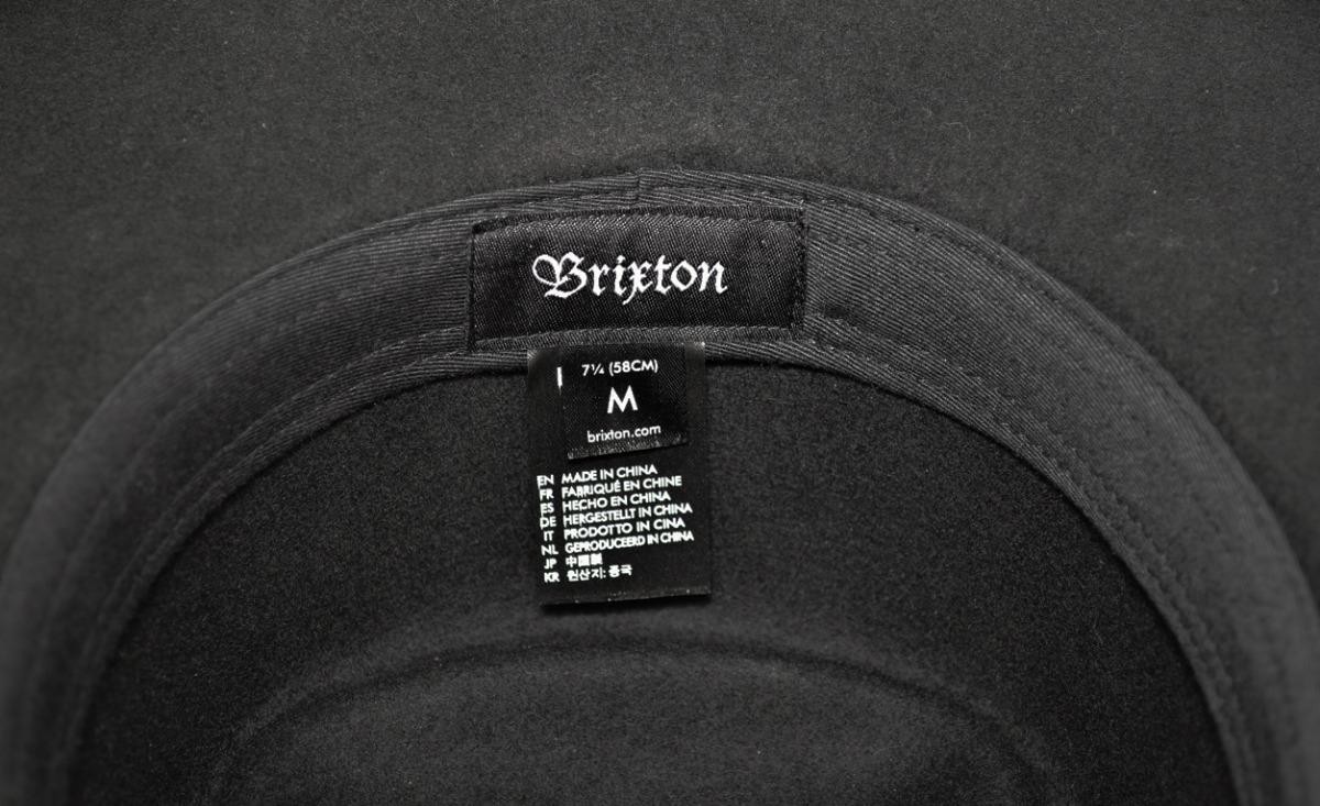 sombrero brixton negro paño fieltro armado pana gorro duro. Cargando zoom. 94ec46c41dc7