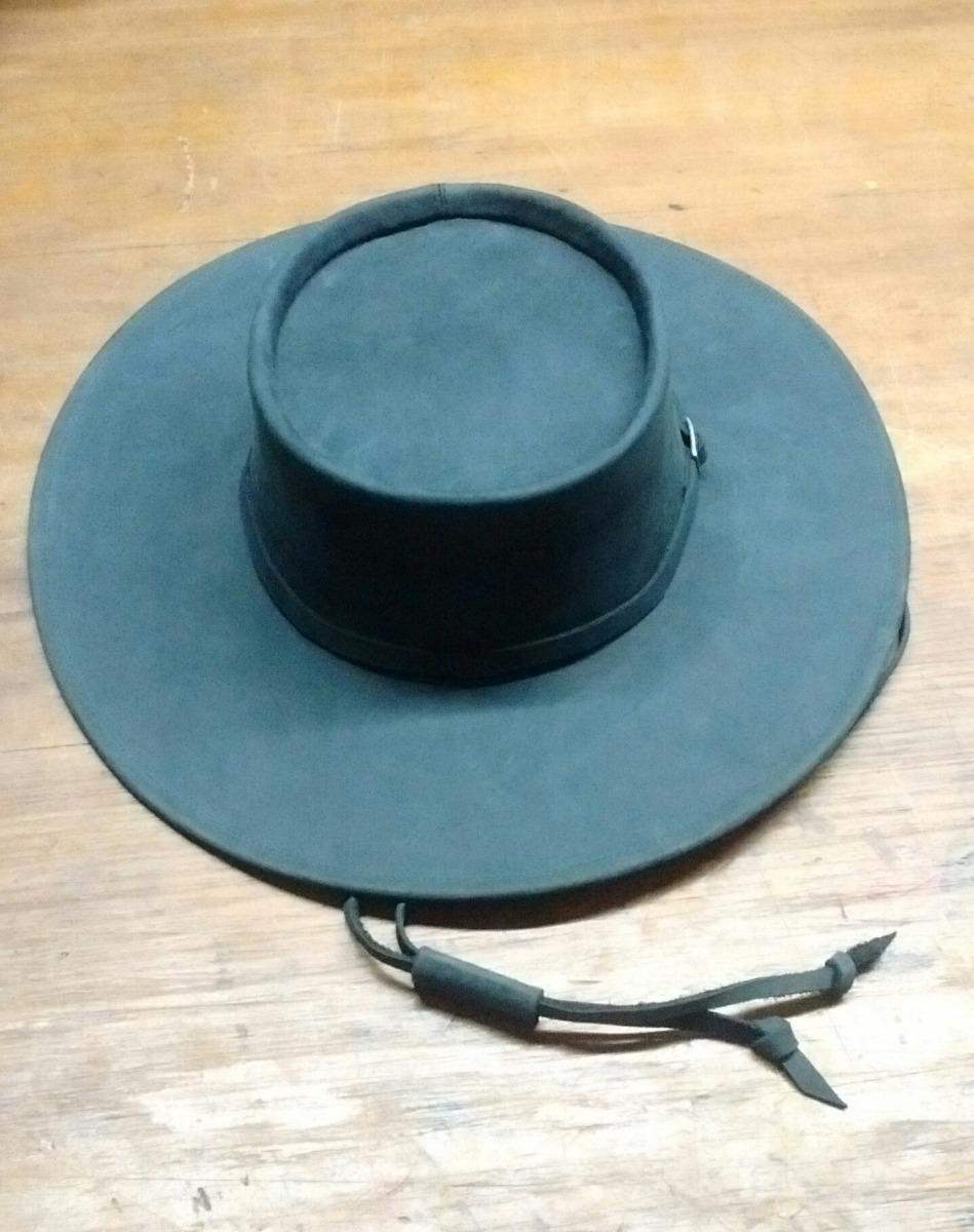 09b184cf1abee sombrero campero norteño gaucho de cuero engrasado ala 9. Cargando zoom.