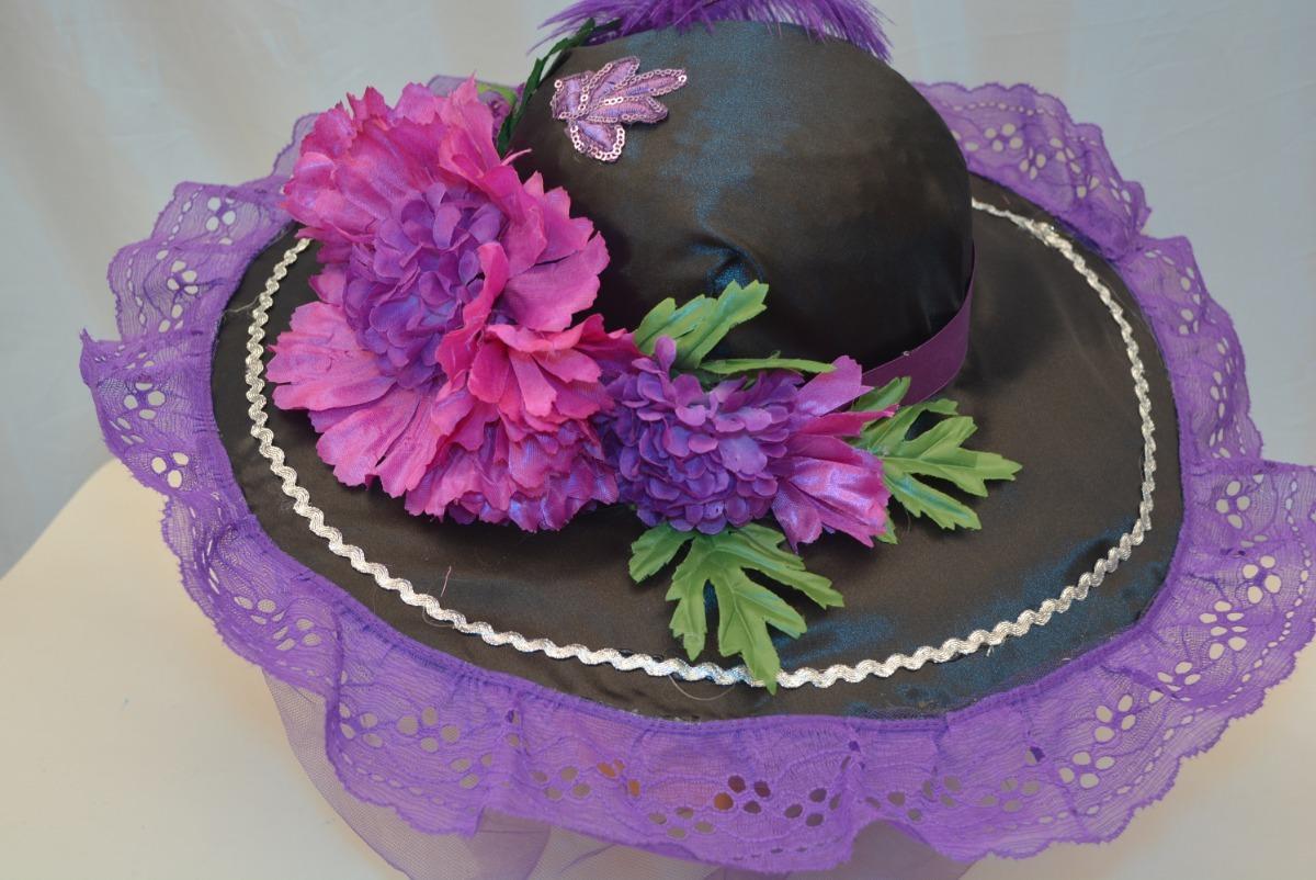 sombrero catrina adult día muertos disfraz morado 2 hallowen. Cargando zoom. 953b1df532c