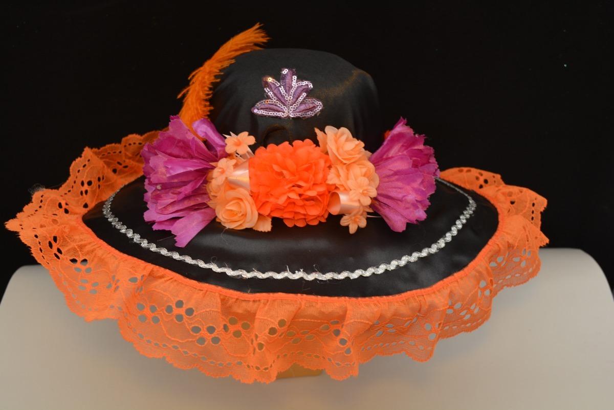 Sombrero Catrina Adulta Dia Muertos Disfraz Naranja 2 -   135.00 en ... 636607b230a