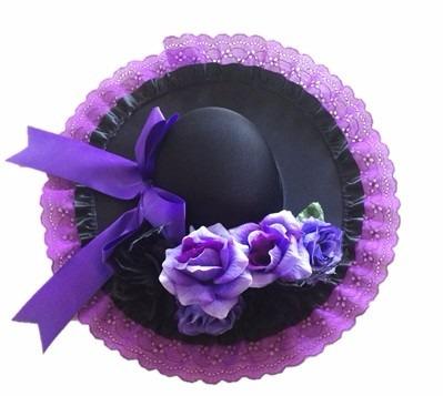 Sombrero Catrina Con Flores Envío Gratis