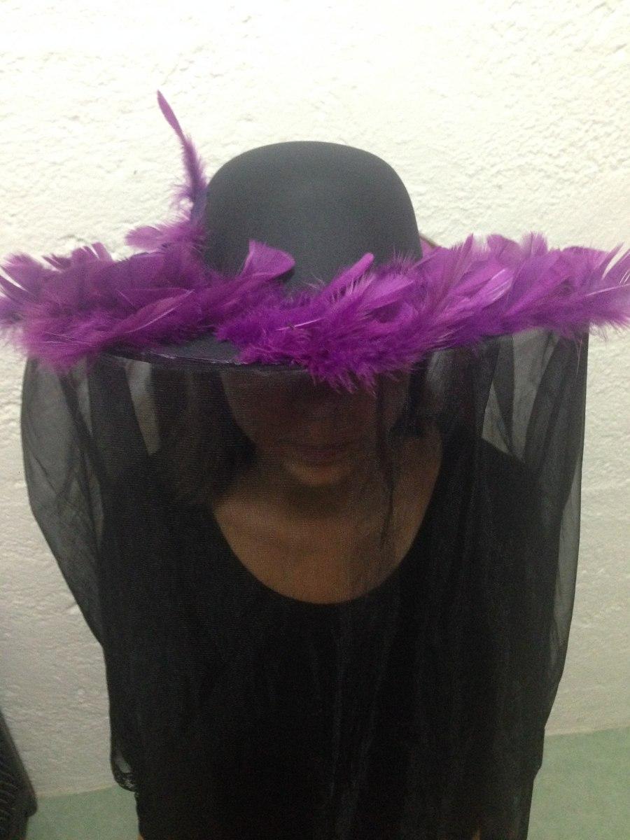 Sombrero Catrina Con Plumas Halloween Envío Gratis