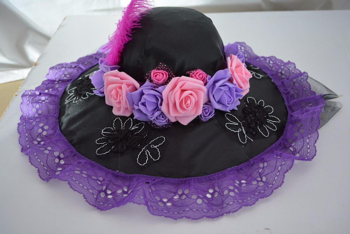 Sombrero Catrina Día Muertos Disfraz Hallowen Adulta