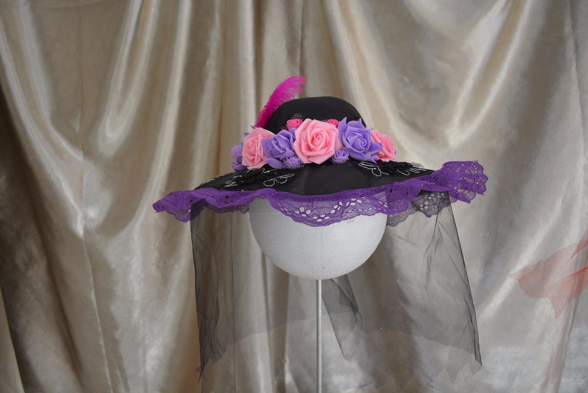 Sombrero Catrina Día Muertos Disfraz Hallowen Adulta -   135.00 en ... a3d450ad277