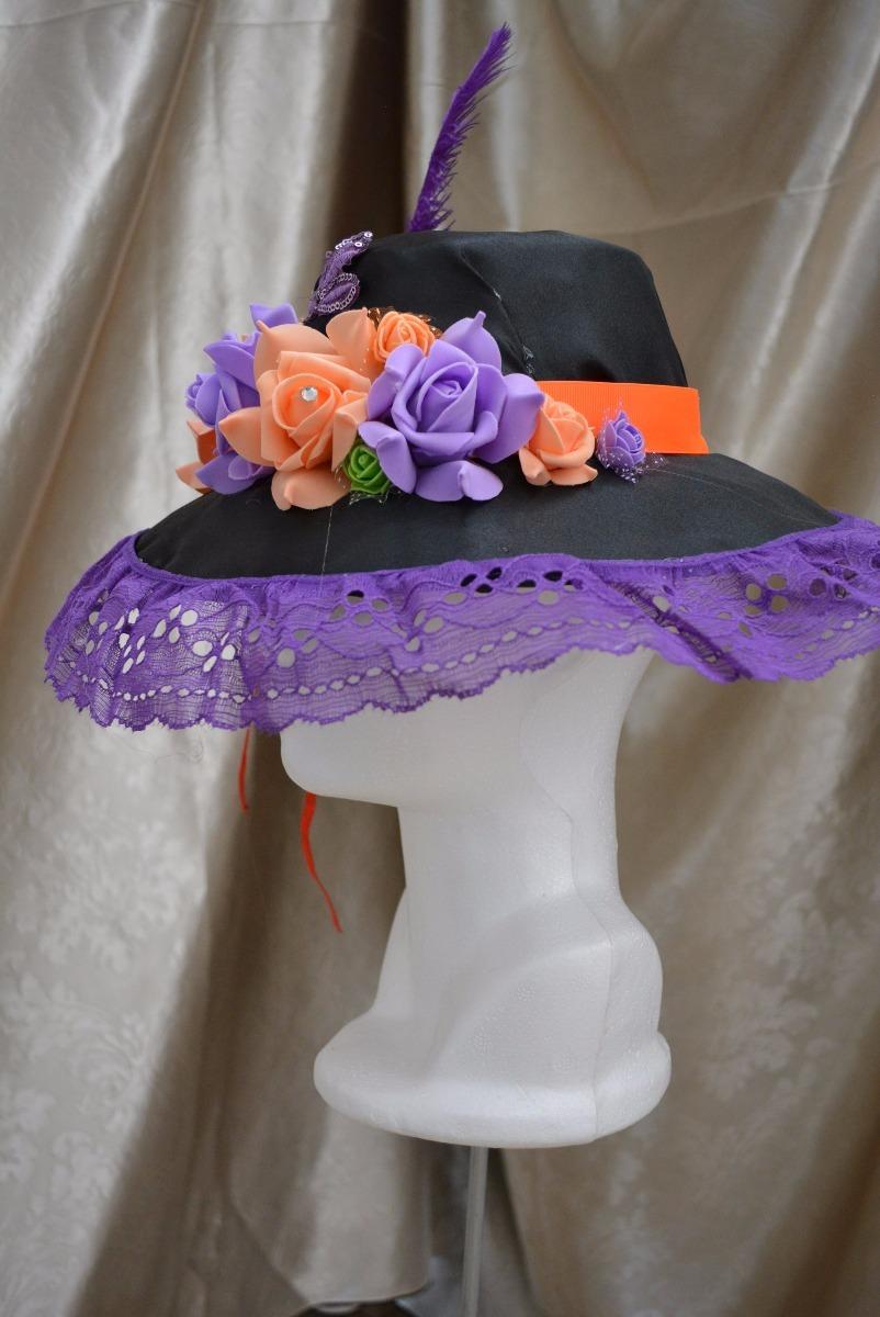 Sombrero Catrina Rosas Niña Dia Muertos Halloween Disfraz