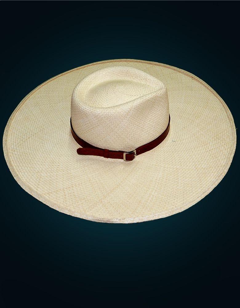 Sombrero Chalan De Paja Toquilla De Piura  aa301b06cf7