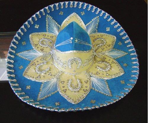 sombrero - chapeu mexicano- original mexico azul