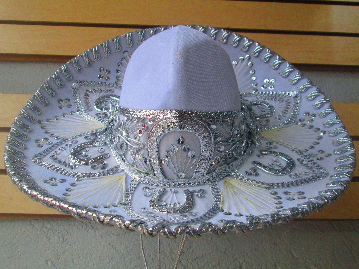 409ee25475530 Sombrero Charro Blanco Bebe Niño Traje Mariachi Barato -   349.00 en ...