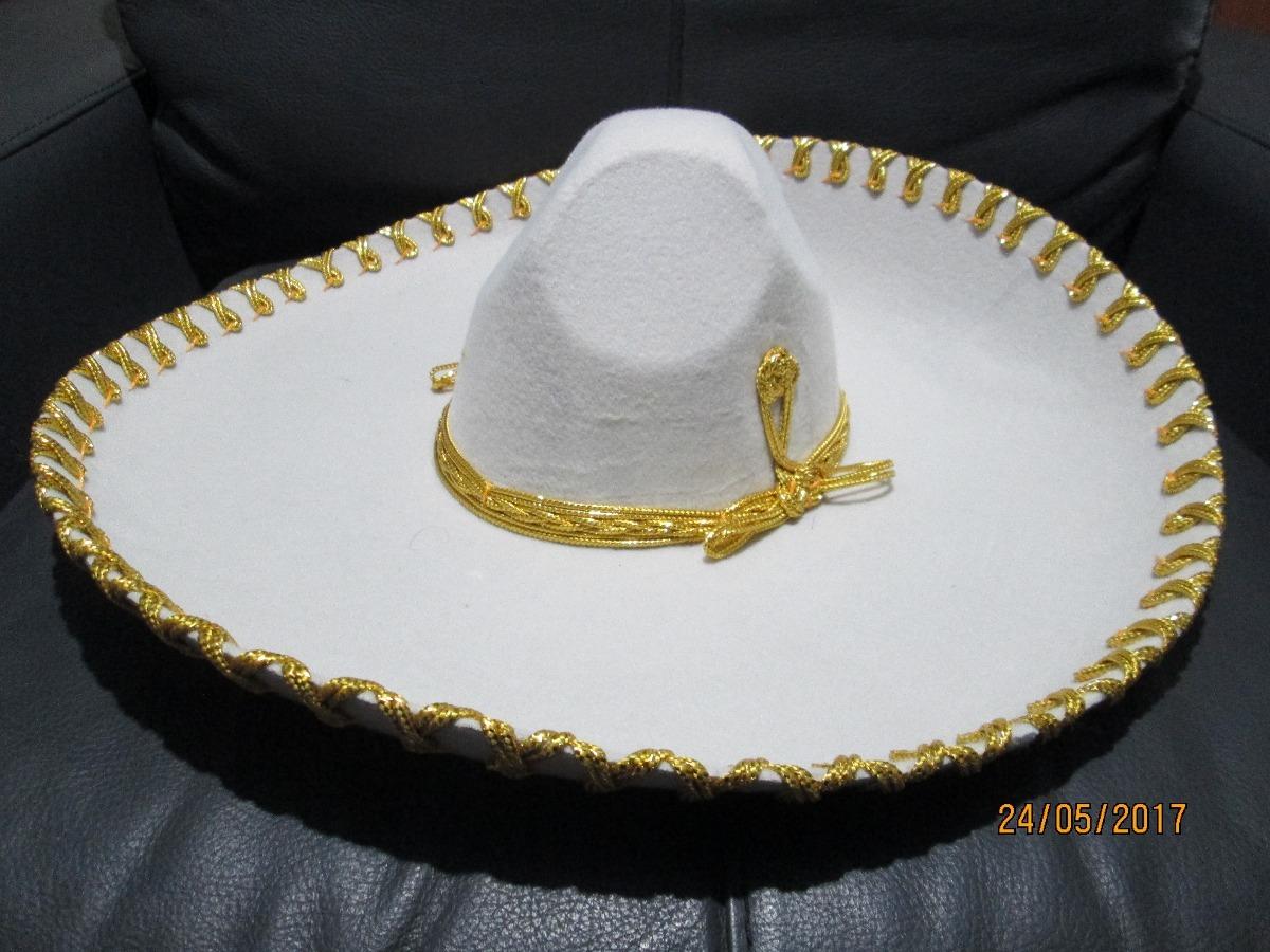 0ac174c5f635f Sombrero Charro Hueso Oro Adulto Fiesta Patrias Mariachi -   399.00 ...