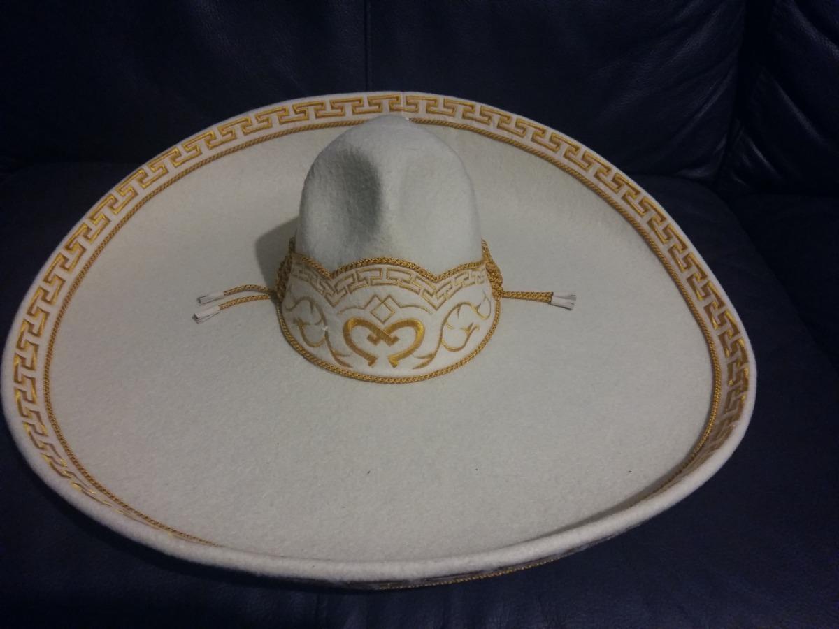 sombrero charro hueso oro adulto fino escaramuza crema mex. Cargando zoom. 9763ed076e18