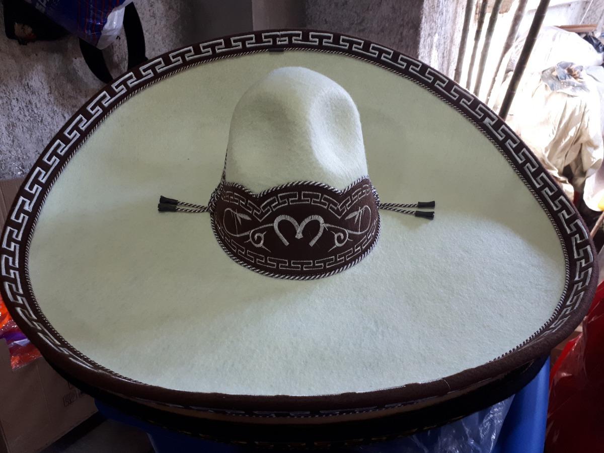 sombrero charro hueso oro crema fino escaramuza charreria. Cargando zoom. 93053d512ce2