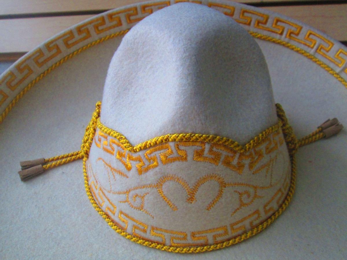 sombrero charro hueso oro fino escaramuza terciopelo mexican. Cargando zoom. c343f6edf5c7