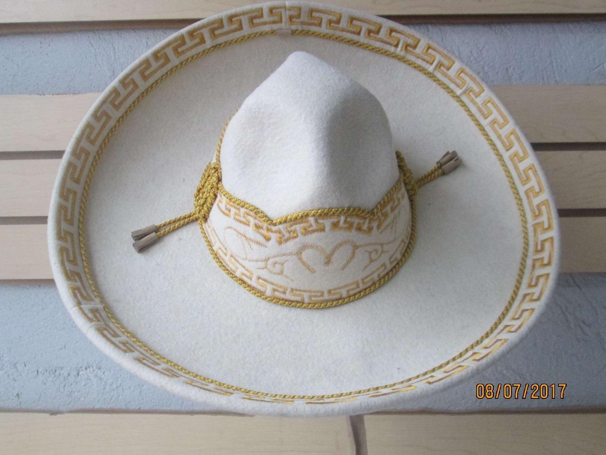 sombrero charro hueso oro fino escaramuza terciopelo mexican. Cargando zoom. 037858ba6408