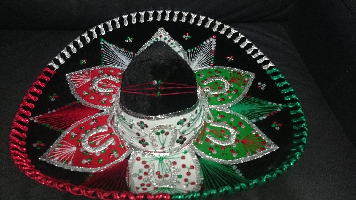 Sombrero Charro Mariachi Mexicano Adulto Negro Colores -   449.00 en ... ca19bc84855