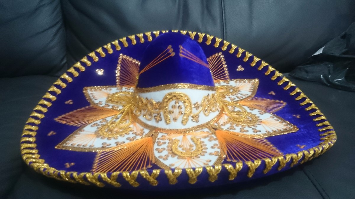 c16f5abd80b3c Sombrero Charro Mariachi Mexicano Adulto Negro Colores -   399.00 en ...