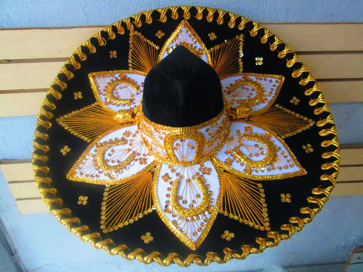 9de3c274d16e9 Sombrero Charro Mariachi Mexicano Adulto Negro Colores -   399.00 en ...