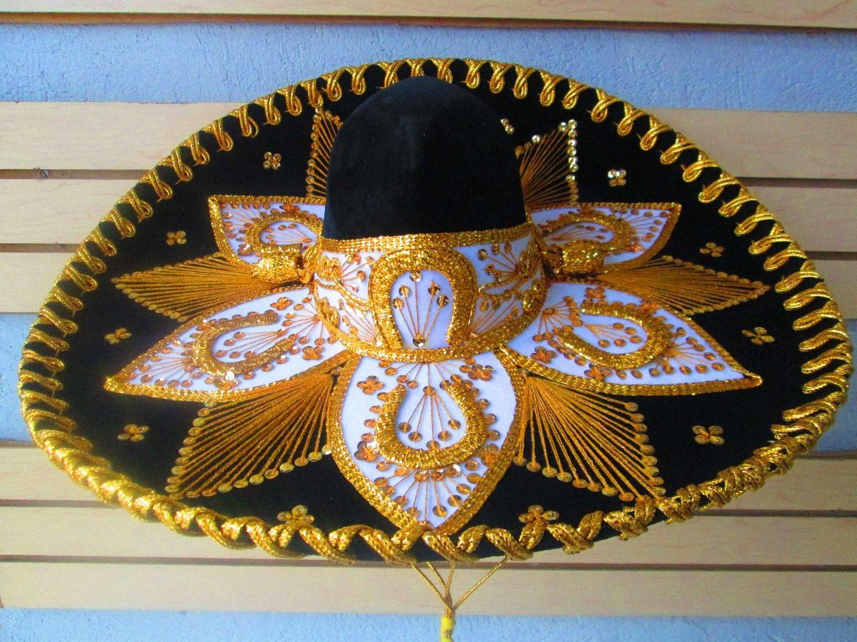 Sombrero charro mariachi mexicano adulto negro colores cargando zoom jpg  1200x900 Sombreros mexicano 3732d773d52