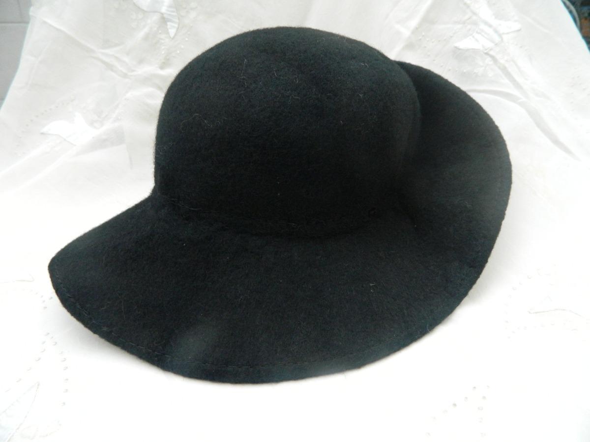 eaec04a550371 Sombrero Cloche - Antiguo - De Fieltro - Negro -   450