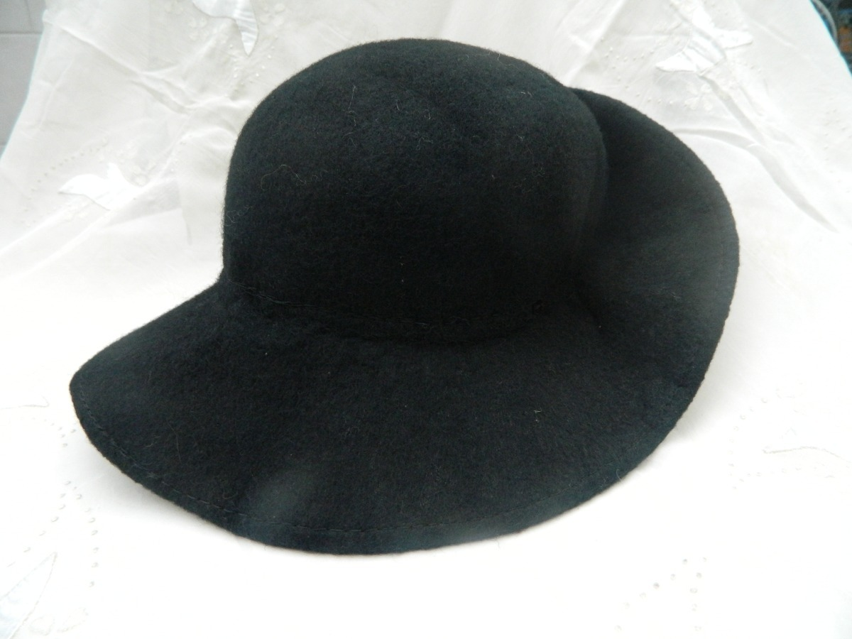 cae3aab7eb7ca Sombrero Cloche - Antiguo - De Fieltro - Negro -   450