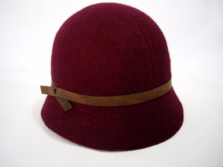 36dbb7c500729 Sombrero Cloche Mujer Paño Naval