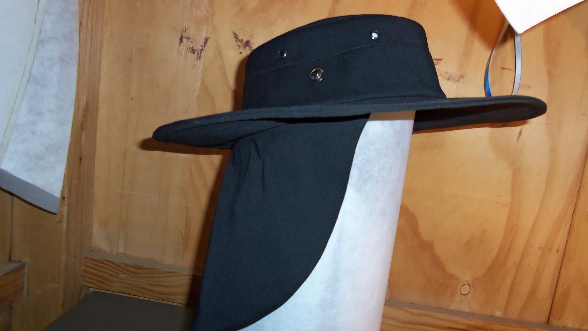 Sombrero Con Capucha Cubre Nuca En Gabardina - $ 170.00 en Mercado Libre
