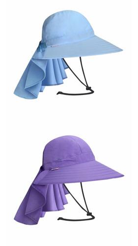 sombrero con protección solar upf 50 para pesca camping rio