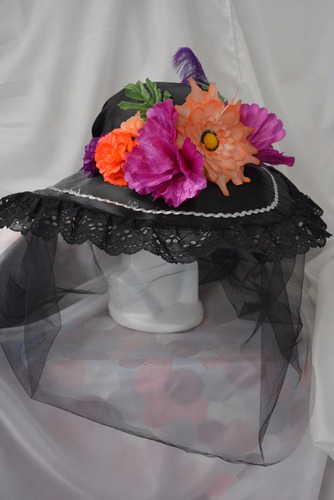 sombrero d catrina adulta dia muertos halloween disfraz