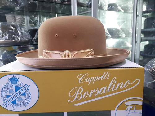 sombrero de cholita color beis