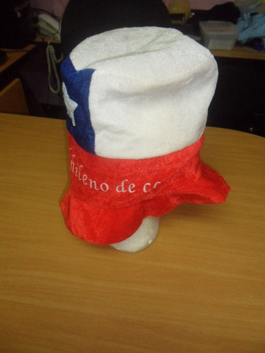 sombrero de copa bandera de chile